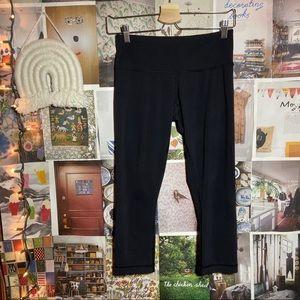 LULULEMON | black wunder under crop leggings